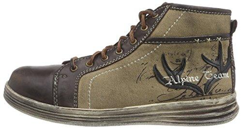 Stockerpoint Sneaker 1295, Herren Hohe Sneakers, Braun (Braun Vintage), 46 EU - 5