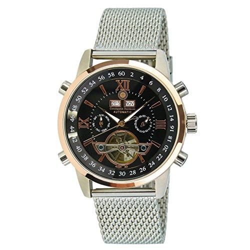 Constantin Durmont Men's Watch Calendar CD-CALE2-AT-STM2-STRG-BK
