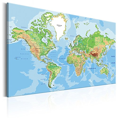 Desertcart pinboards canvas prints buy pinboards canvas prints murando pinboard map 120x80 cm 472 by 315 in image printed on non woven canvas with cork backing poster pin board world map altitude and depth gumiabroncs Choice Image