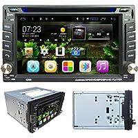 Lacaca 6.2touch screen Android 4.4Doppio Din In dash Car Radio Stereo lettore DVD di navigazione GPS Supporto Bluetooth Wifi 3G Auto Radio USB SD ingresso telecamera posteriore - Yukon Navigazione