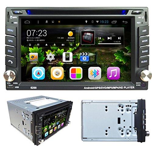 Lacaca 6.2touch screen Android 4.4Doppio Din In dash Car Radio Stereo lettore DVD di navigazione GPS Supporto Bluetooth Wifi 3G Auto Radio USB SD ingresso telecamera