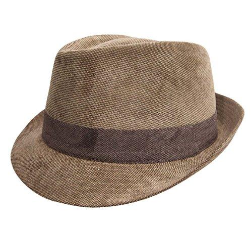 eb9ce36ab0fbd Classic Italy - Sombrero trilby hombre Classic Trilby Velours - talla 60 cm  - marron-