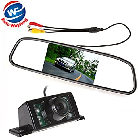 Auto Wayfeng® Espejo con Monitor 4.3