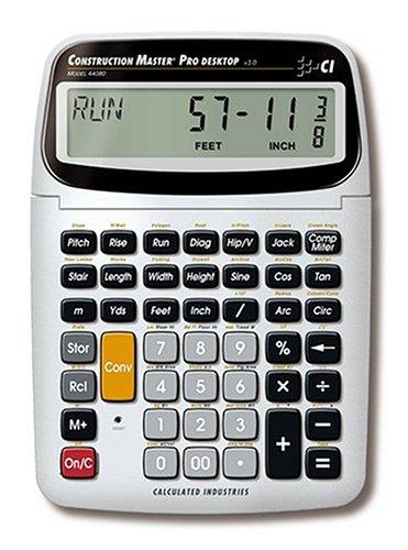 Calculated Industries Construction Master pro-desktop Büro Wissenschaftlicher Taschenrechner silber Taschenrechner-Taschenrechner (Büro, wissenschaftlicher Taschenrechner, 11Zahlen