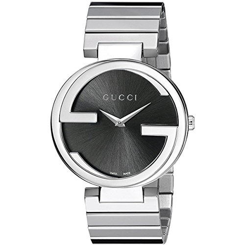 GUCCI Women's 37MM Steel Bracelet & CASE Quartz Black DIAL Watch YA133307
