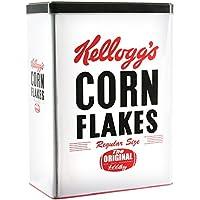 Kelloggs kg30683 recinto Cereales, Metal, Color Blanco/Negro, 18,5 x