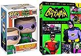 Riddler Batman TV Collection Season 1 Show Live Action DVD + Pop Vinyl Collectible Comic Figure Villain Riddler Toy Movie Bundle