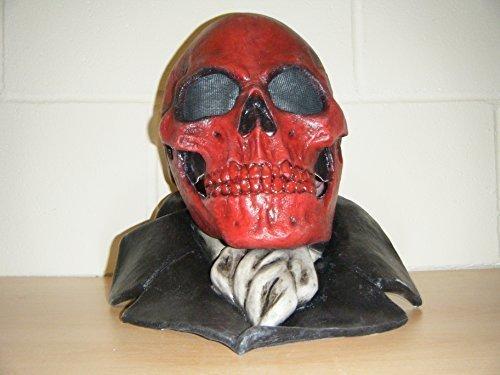 Schädel Devil Monster Deluxe Latex Halloween Voller Kopf Maskenkostüm (Wrestling Kostüme Custom)