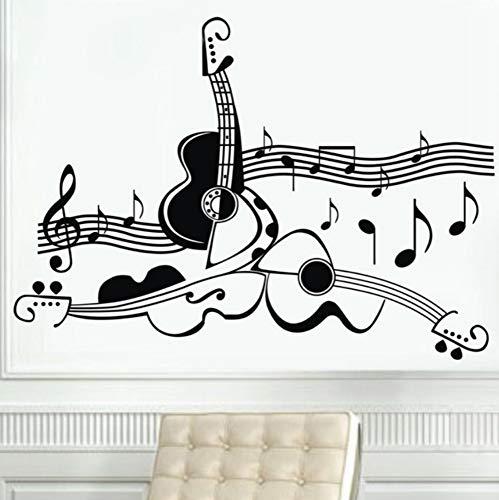 shiyusheng Original Design Gitarre Musikinstrument Vinyl Wandtattoos, Musik Gitarre Wand Dekor Aufkleber personalisiert, 105x75cm