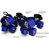 Jaspo Tenacity Adjustable Senior Roller Skates Suitable for Age Group 6 to 14 Years