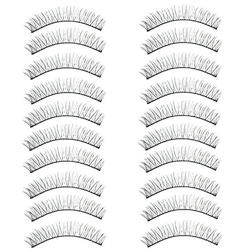 Vovotrade Extension de Maquillage Main Faux Cils Font Attarctive Professionnel Effet 3D (Noir)