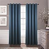 2 Scheiben Polyester Jacquard Fenster Vorhang Vertikaljalousien , Blue , 140 x 260 cm