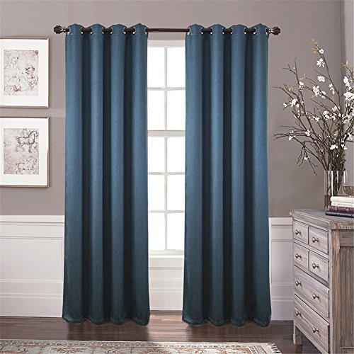Preisvergleich Produktbild 2 Scheiben Polyester Jacquard Fenster Vorhang Vertikaljalousien , Blue , 100 x 270 cm