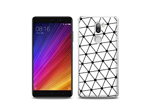 etuo Xiaomi Mi5s Plus - Hülle Fantastic Case - Schwarz-Weißes-Netz - Handyhülle Schutzhülle Etui Case Cover Tasche für Handy