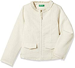 United Colors Of Benetton Girls Jacket (17A2FW85Z030I9012Y_Off White)