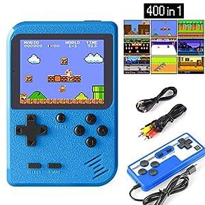 ETPARK Handheld Spielkonsole, 400 Klassische Spielen 2.8-Zoll-LCD-Bildschirm tragbare Retro-spielkonsole Unterstützt das Anschließen an den TV-Anschluss und Zwei Spieler für Kinder und Erwachsene