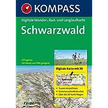 Schwarzwald - Digitale Wander-, Rad- und Langlaufkarte