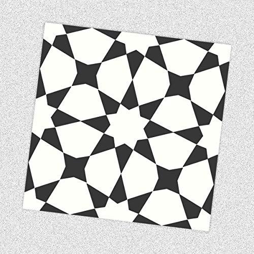 Sticker Tile Stickers Kitchen Bath Floor Fireplace Waterproof & Removable Peel Stick Peel & Stick Vinyl Adhesive Tiles(Set 12 Units) (Peel-stick Vinyl)