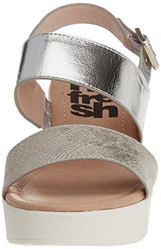 Refresh - 063317, Scarpe col tacco Donna Argento