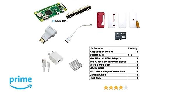 Robocraze Raspberry Pi Zero W Complete Kit Rc A 517 Amazon In