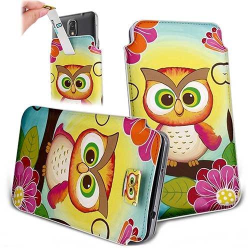 Handytasche / Handyhülle in unterschiedlichen Größen für viele Handys z.B. Samsung Galaxy S7 S6 S5 S4, iPhone 7 6s 6, LG G5 G4 G3, Sony Xperia Z6 Z5 Z4 Z3 & viele weitere Hersteller. Exklusives Design fette Eukle