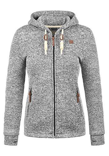 DESIRES Thory Damen Fleecejacke Sweatjacke Jacke Mit Kapuze Und Daumenlöcher, Größe:L, Farbe:Dark Grey (2890)