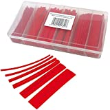 100 gaines thermorétractables rouge