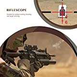 Aomekie Air Rifle Scope 4x32 Red/Green/Blue Triple Illuminated Optics Rapid Range Reticle with Top Fiber 20mm/22mm Weaver/Picatinny Rail Mount Red Dot Sight Scope for Hunting Crossbows