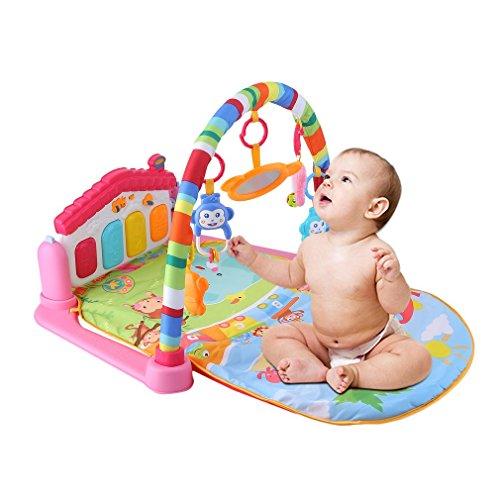 Bebé pie Piano Música Alfombra de juegos 3en 1juego Alfombras Alfombra bebé gimnasio alfombra Educación accesorio de teclado musical Juego Manta para gatear con desarrollo juguetes Pad