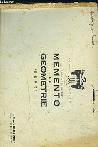 MEMENTO DE GEOMETRIE / BEPC