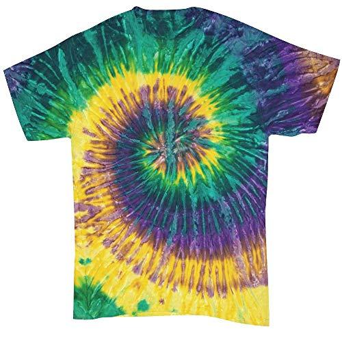 Colortone - Unisex Batik T-Shirt 'Swirl' / Mardi Gras, 5XL (Farben Mardis Gras)
