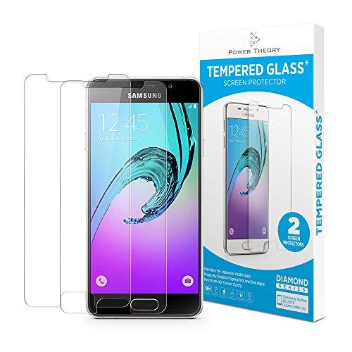 Samsung Galaxy A3 2016 Panzerglas (2 Stück) - Schutzglas Japanische 9H Tempered HD Schutzfolie, Displayschutzfolie Glas, Screen Protector Hartglas, Panzerglasfolie, Handy Glasfolie, Panzerfolie
