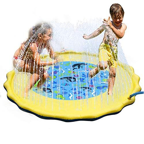 Kitabetty Wasser Sprinkler Sprühpad, Kinder Rasensprenger Spiel Pad PVC aufblasbare Sprinkler Spielzeug im Freien Kinder Unterhaltungsspiel.