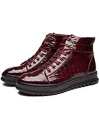 Botas Martin CláSicas De Los Hombres De Cabeza Redonda Zapatos Casuales Patrón De Cocodrilo Zapatos Deportivos…