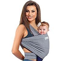 Fascia Porta-Bebe 4in 1| Tonga da neonato per uomo e donna | Scaldacollo elastico per bambini | il miglior regalo per la festa di benvenuto neonato por Babycakes (Grigio)