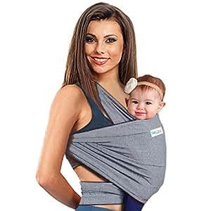 Fascia Porta-Bebe 4in 1  Tonga da neonato per uomo e donna   Scaldacollo elastico per bambini   il miglior regalo per la festa di benvenuto neonato por Babycakes (Grigio)