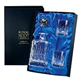 Crystal Whisky Decanter & 2 Whisky Tumblers in Presentation Box - London