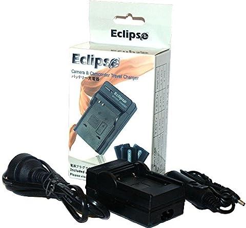 Eclipse CANON NB-5L Chargeur de Batterie pour Canon Digital Digital IXUS 800 850 860 870 950 960 IS, etc avec EURO câble et adaptateur de voiture (Charge Rapide)