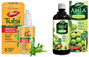 DABUR Tulsi Drops- 50% Extra: Concentrated Extract of 5 Rare Tulsi for Natural Immunity Boosting & C &