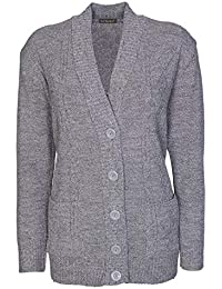 Lets Shop Shop New Classic Womens Cardigan Ladies Sizes 10-20 Cable Knit Long  Sleeve 2c5cc00f1b5