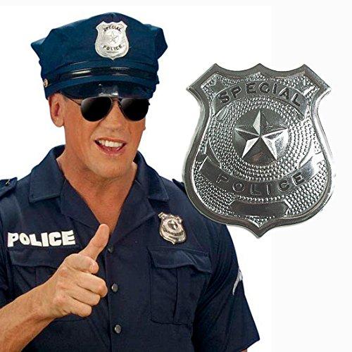 Kostüm Cop Nypd - Metall Polizei Abzeichen Polizisten Marke Dienstmarke Polizeimarke Polizeiabzeichen Polizeimarken Dienstmarken als Kostüm Zubehör