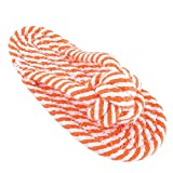 #3: Sri Durable Cotton Ropes Slippers Teething Chew Toy For Pet Dog (Orange)