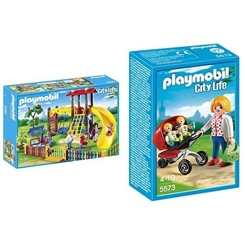 Playmobil 5568 - Kinderspielplatz &  5573 - Zwillingskinderwagen
