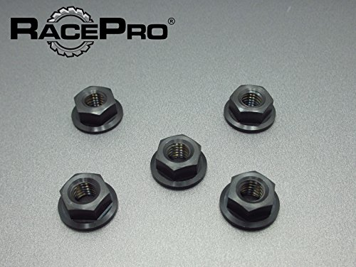 RacePro - MV Later Model of F4 & Brutale All Years -x5 Ti Sprocket Nuts Noir.