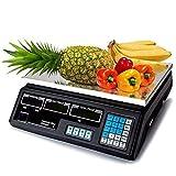Bascula de Cocina balanza de Comercio y frutera hasta 40kg Digital con bateria Recargable