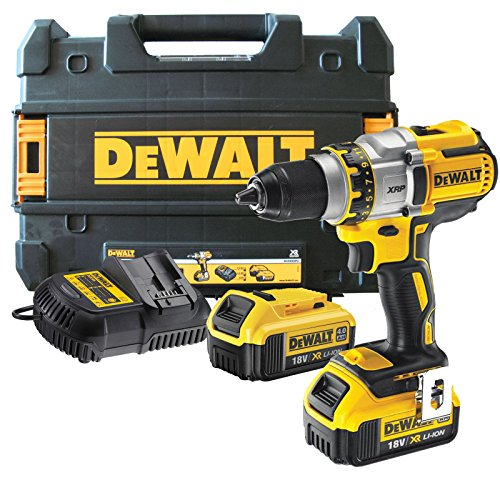 DeWalt DCD990M2 18v Cordless XRP 3 Speed Brushless Drill Driver with 2 Li-ion Batteries 4ah (Brushless Drill Driver)