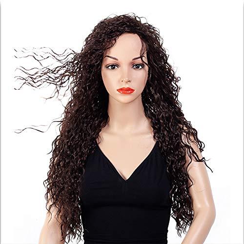 Hochtemperatur Seide Chemiefaser Perücke Kopfbedeckungen Europäischen Und Amerikanischen Heißer Verkauf Natürliche Farbe Kleines Volumen Weibliches Lockiges Haar (Verwendet Kostüme Halloween Verkauf Damen)