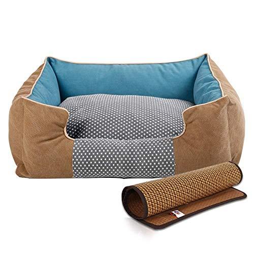 Pet Sofa Hundebett mit Sommer Schlafmatte, waschbarem Canvas-Bezug. (Size : XL 98×76×21cm)