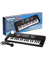 Touyma® 37 Key Piano Keyboard Toy for Kids with Mobile Charger Power Option and Recording- Latest Edition