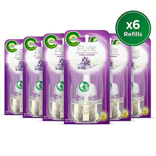 Air Wick Désodorisant électrique, Plug-in, Pure Violet lavande, recharge 19 ml, Lot de 6